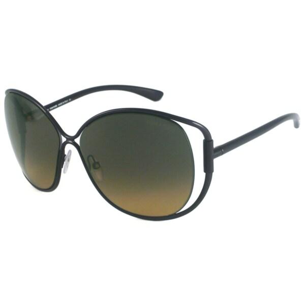 Tom Ford Women's TF0155 Emmeline Rectangular Sunglasses with Plastic Temples