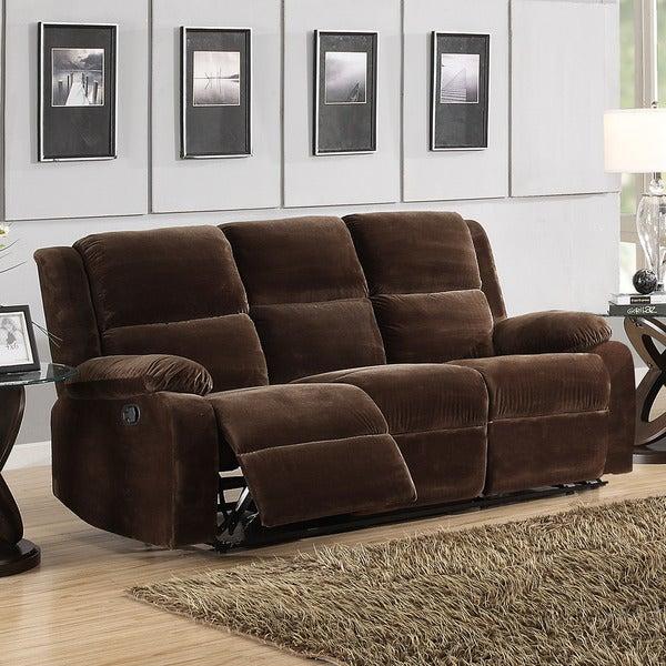 Angus Coffee Brown Velvet Sofa