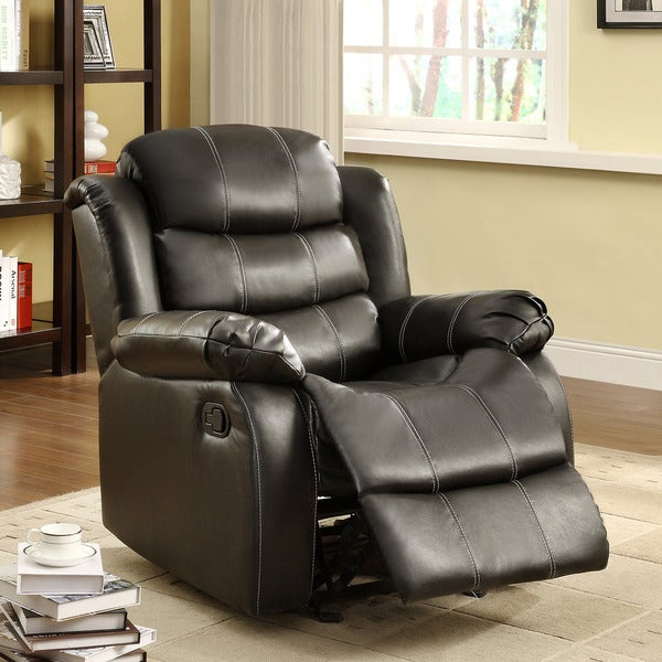 Buxton Black Bonded Leather Chair