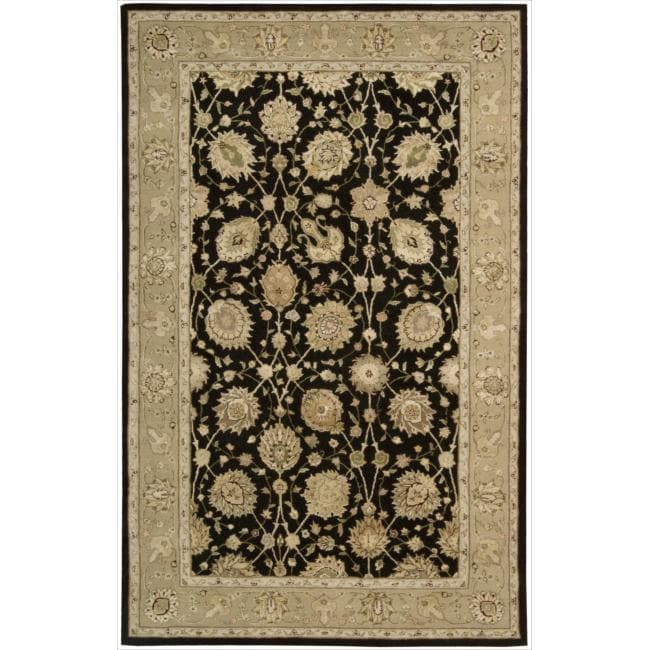Nourison 3000 Hand-tufted Black Rug (8'6 x 11'6)