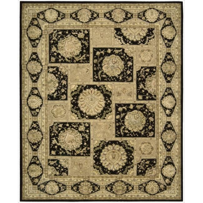 Nourison 3000 Hand-Tufted Black Wool Rug (7'9 x 9'9)