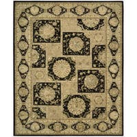 Nourison 3000 Hand-Tufted Black Wool Rug (7'9 x 9'9) - 7'9 x 9'9