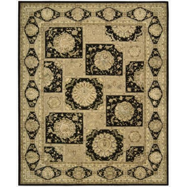 Nourison 3000 Hand-Tufted Black Wool Rug (7'9 x 9'9) - 7'9 x 9'9