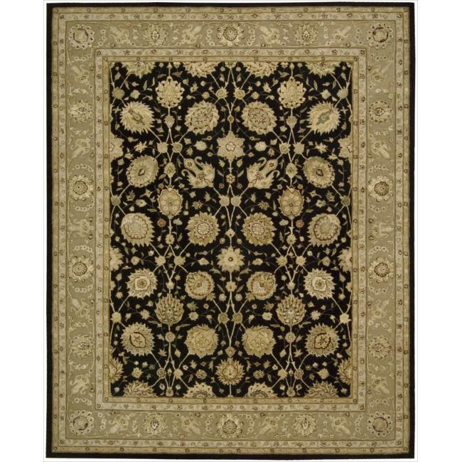 Nourison 3000 Hand-tufted Black Rug (7'9 x 9'9)