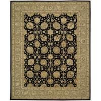Nourison 3000 Hand-tufted Black Rug (7'9 x 9'9) - 7'9 x 9'9