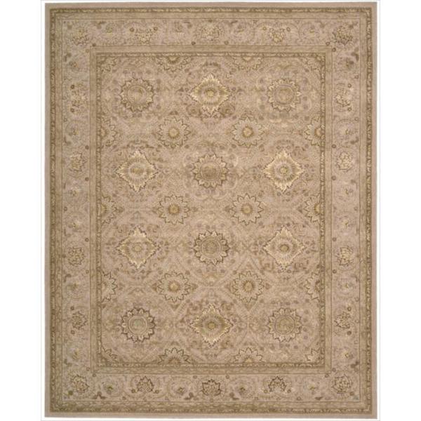 Nourison 3000 Hand-Tufted Beige Floral Wool Rug - 3'9 x 5'9
