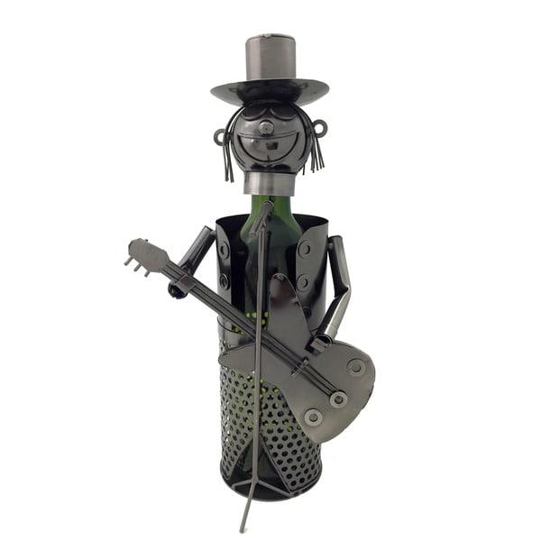 Guitarist Character Wine Bottle Holder/ Caddy