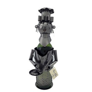 Wine Caddy  Chef with Pan Character Wine Bottle Holder