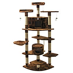 Go Pet Club Brown 80-inch Tall Cat Tree Furniture