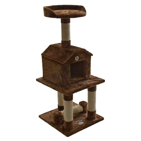 Shop Cat Tree Furniture Brown 45 Inches High Free