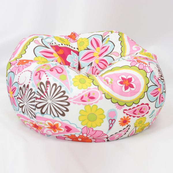 BeanSack Floral Paisley Bean Bag Lounge Chair
