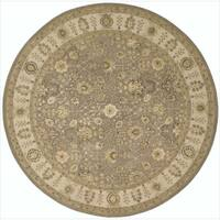 Nourison 3000 Hand-tufted Taupe Rug Round - 8' x 8'