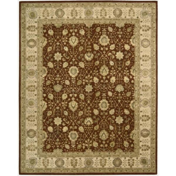 Nourison 3000 Hand-tufted Rust Wool Rug (9'9 x 13'9) - 9'9 x 13'9