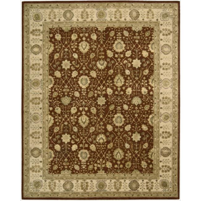 Nourison 3000 Hand-tufted Rust Wool Rug (12' x 15')