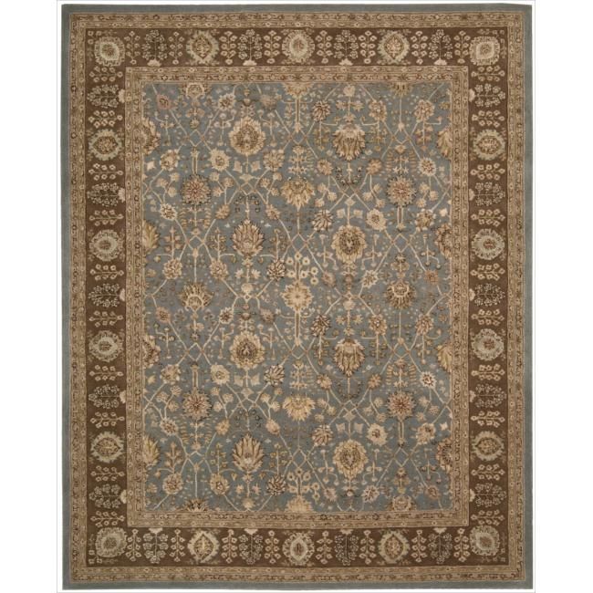Nourison 3000 Hand-tufted Blue Wool Rug (3'9 x 5'9)