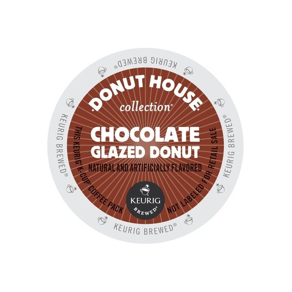 Donut House Collection Chocolate Glazed Donut Light Roast K-Cups