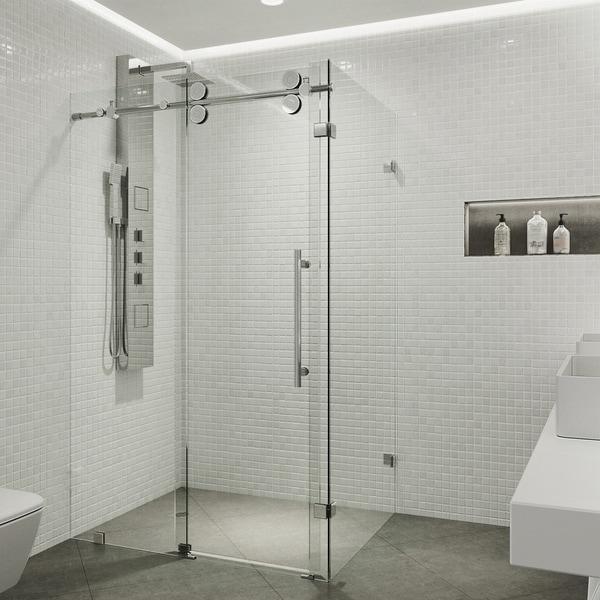 Shop Vigo Winslow Clear Frameless Sliding Door Shower