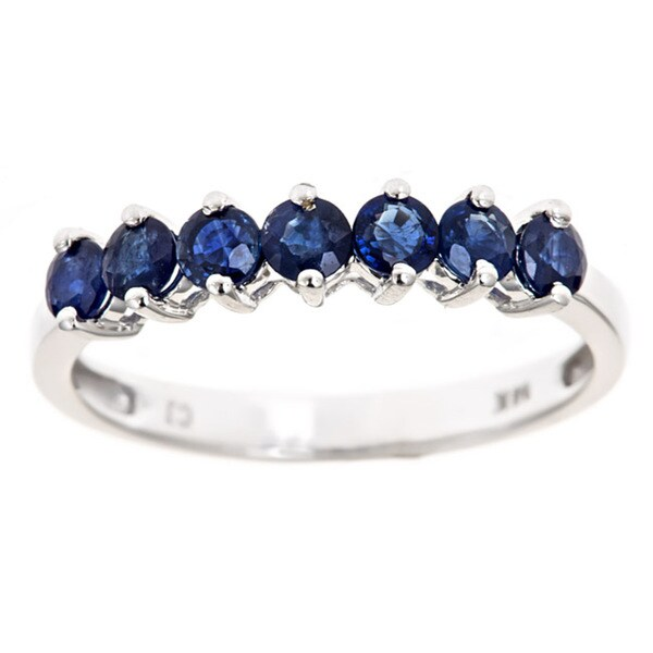 Anika and August 14k White Gold Ceylon Blue Sapphire Ring