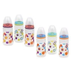 NUK Trendline Dots Medium Flow 10-ounce Orthodontic Bottle (Pack of 3)
