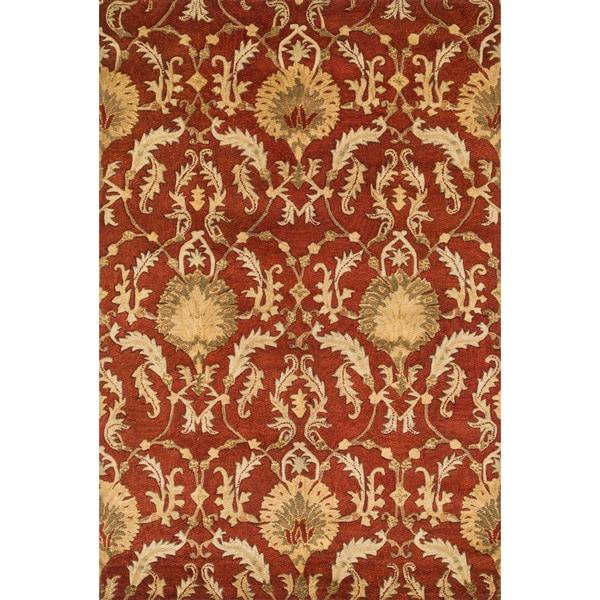 Handtufted Ferring Persimmon Wool Rug (5'0 x 7'6)