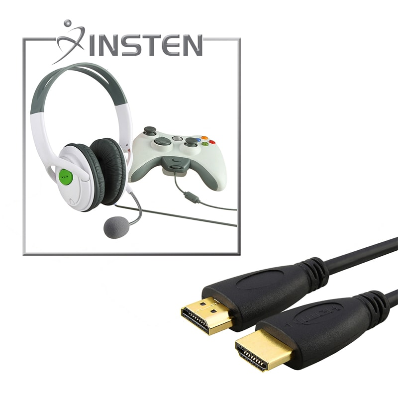 INSTEN Headset/ 6-foot HDMI Cable/ Microphone for Microsoft xBox 360