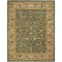 Safavieh Handmade Heritage Traditional Kashan Blue/ Beige Wool Rug - 11' x 17'