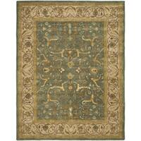 Safavieh Handmade Heritage Traditional Kashan Blue/ Beige Wool Rug - 12' x 15'