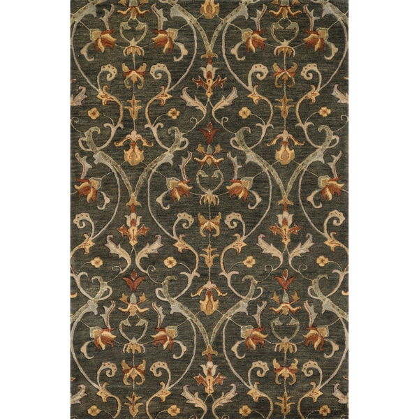 Hand-tufted Ferring Charcoal Wool Rug - 5' x 7'6