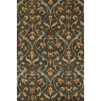 Hand-tufted Ferring Charcoal Wool Rug - 5' x 7'6