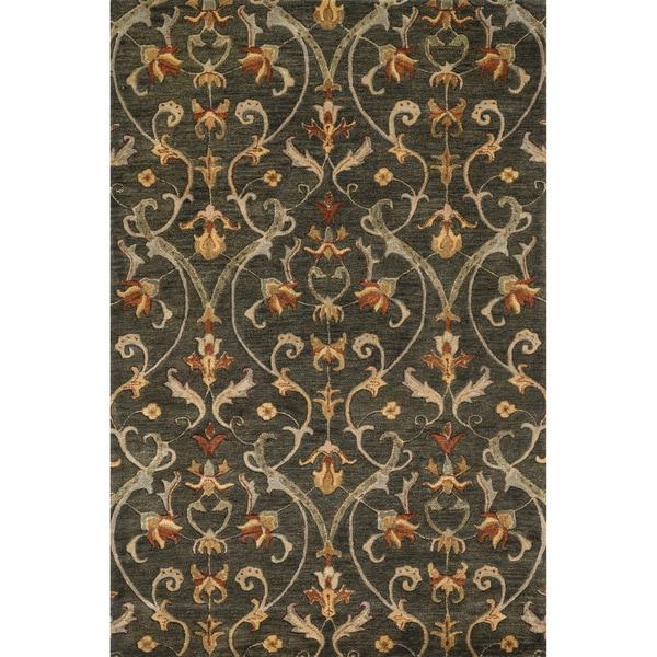 Hand-tufted Ferring Charcoal Wool Rug - 7'10 x 11'0