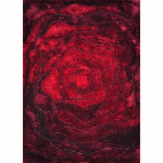 Hand-woven Perseus Red Rug (3'6 x 5'6)