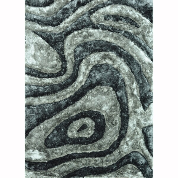 Hand-woven Perseus Grey Rug - 7'10 x 11'0
