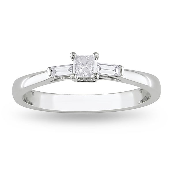 Miadora 10k White Gold 1/4ct TDW Diamond Ring (G-H, I1-I2)