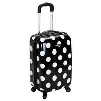 Rockland Black Polka Dot 20-inch Lightweight Hardside Spinner Carry-on Luggage