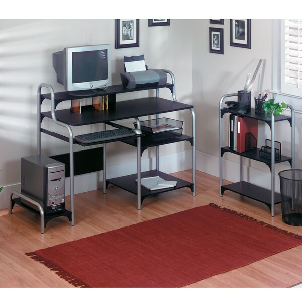 Altra Computer Workstation Bookcase Set