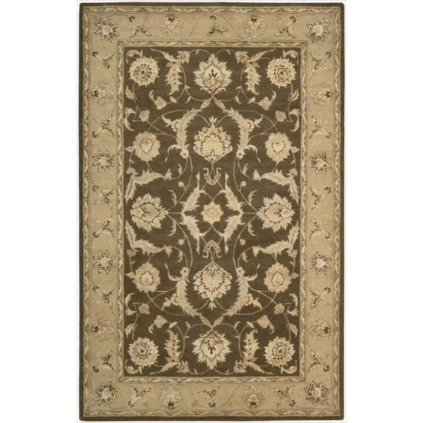 Nourison 3000 Hand-tufted Brown Wool Rug - 5'6 x 8'6
