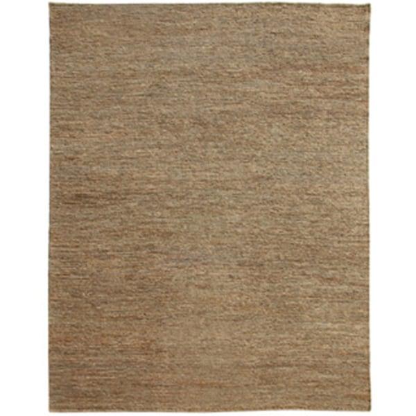 Hand-woven Solid Char Brown Hemp Rug (5' x 8')