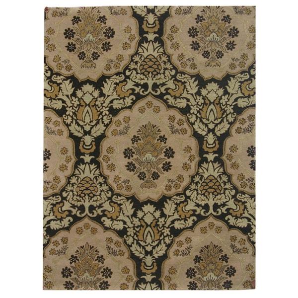 Hand-tufted Oriental Coffee Wool Rug (8' x 11')
