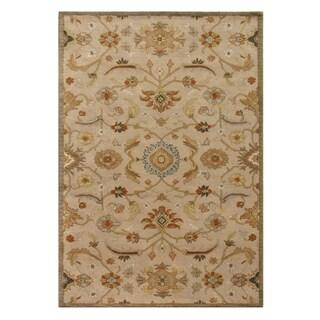 Hand-tufted Oriental Beige Wool Rug (6' x 9')
