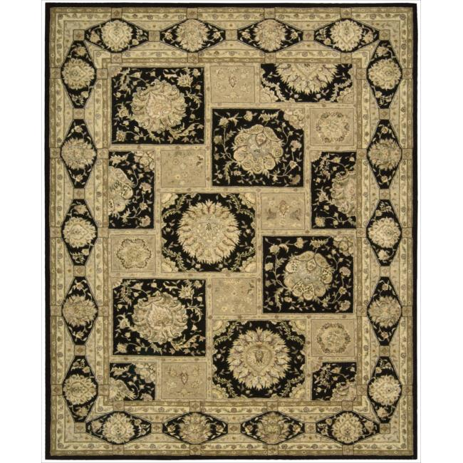 Nourison 3000 Hand-tufted Black Rug (12' x 15')