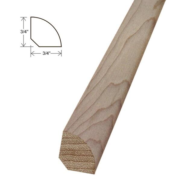 Unfinished Maple 0.75-inch Quarter Round Moldings - Set of 5