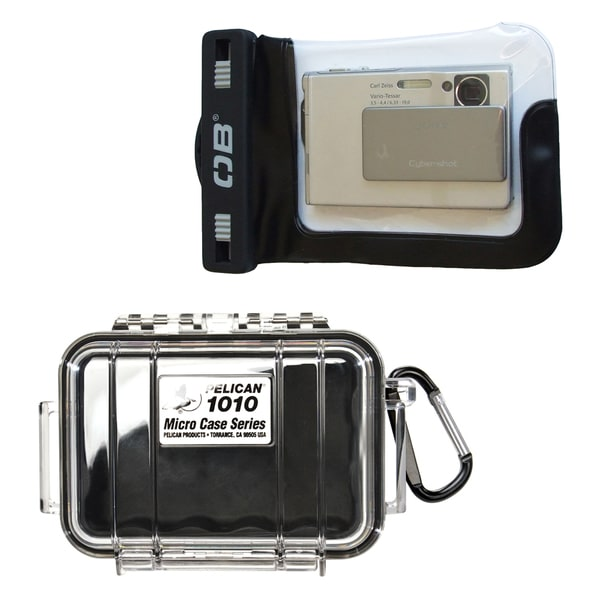 Pelican 1010 Micro Case and Overboard Waterproof Compact Camera Case