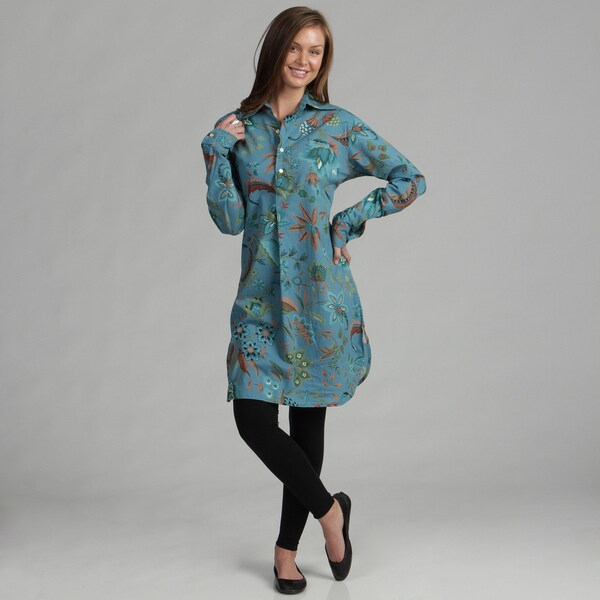 Serena Women's Kerala Blue Tunic (India)