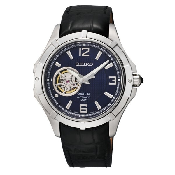 Seiko Men's Coutura Automatic Blue Dial Leather Watch