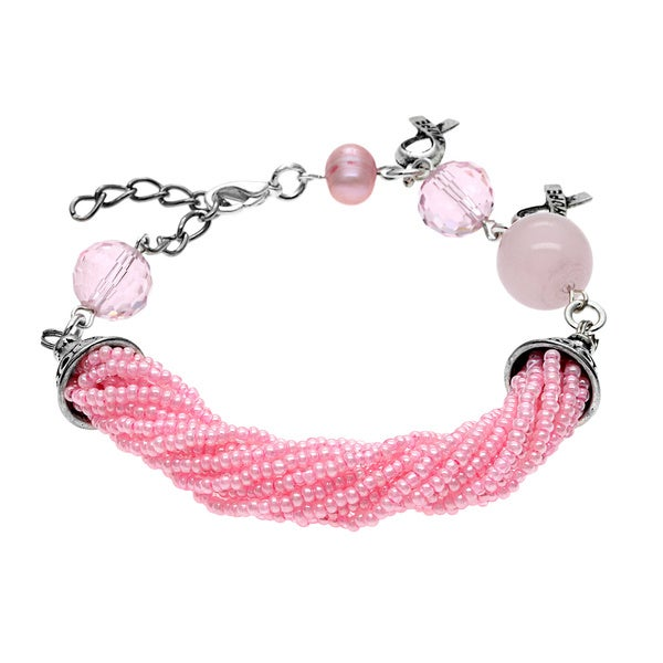 Pink Breast Cancer Awareness Bracelet (Guatemala)