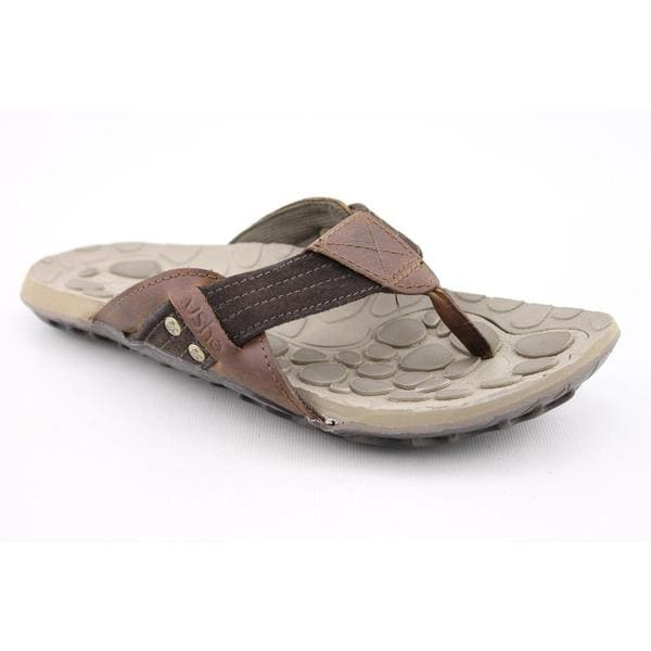 Cushe Men's 'Evo Web Leather' Distressed Leather Sandals (Size 11)