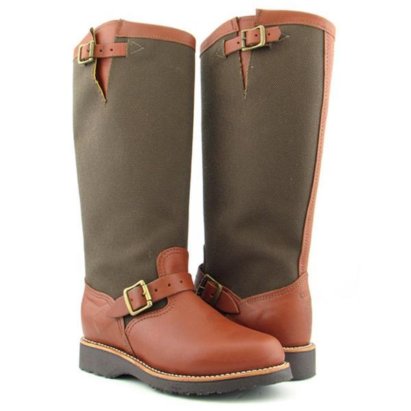 "Chippewa Women's 'L23913 17"" Viper Cloth Snake' Leather Boots (Size 8.5)"