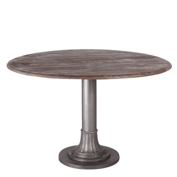 Smoky Teak Round Dining Table