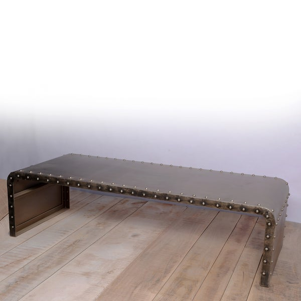 Manali Waterfall Antique Nickel Coffee Table (India)