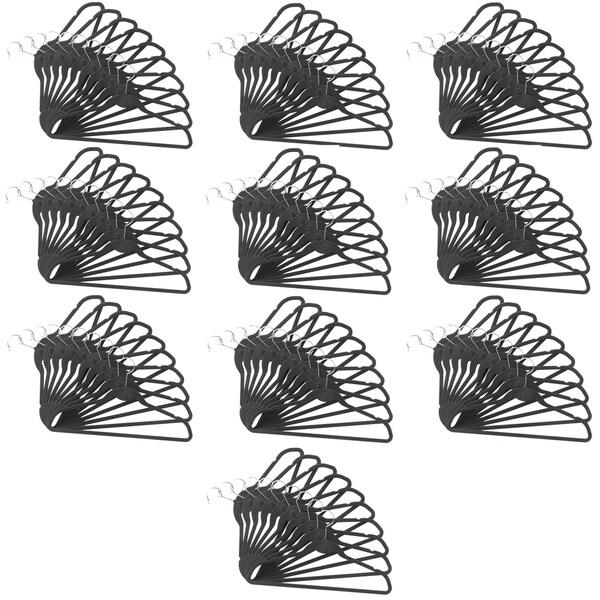 ClutterFREE 100-piece Cascade Black Hanger Set